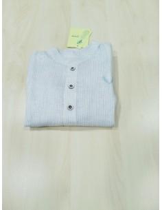 Pili Carrera camisa -Polo celeste-blanca