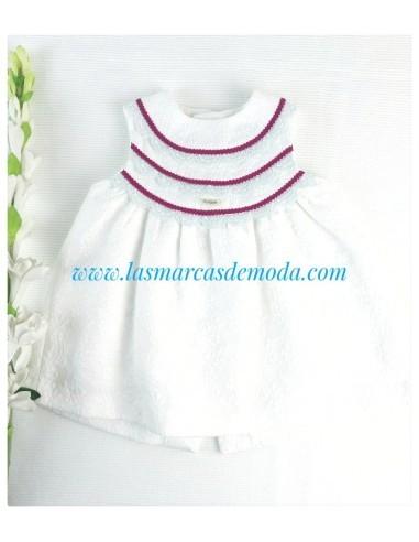 Foque vestido bebé blanco
