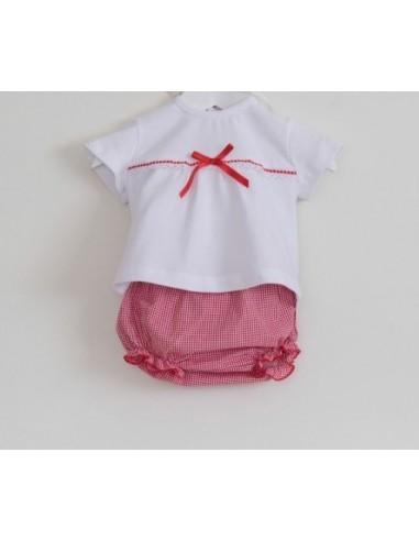 Conjunto camiseta y braguita