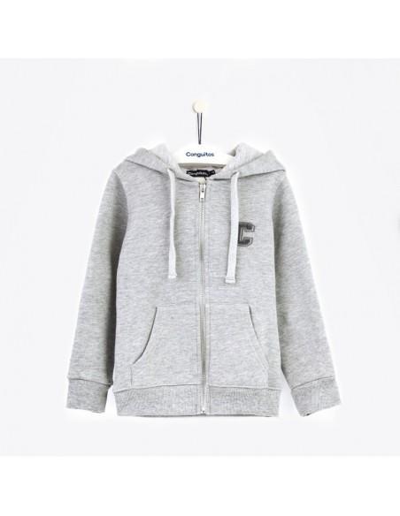 Conguitos chaqueta con gorro gris vigore