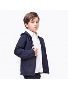 Conguitos chaqueta con gorro azul marino