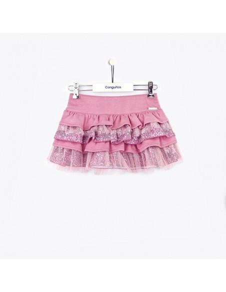 Conguitos falda de niña tul en rosa